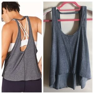 Lululemon Intended Tank Sz 8 Heathered Midnight